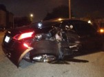Wreckage of Audi R8 involved in crash in Tampa, Florida