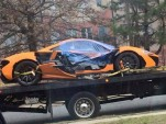 Wreckage of McLaren P1 that crashed in Washington, D.C. - Image via Imgur