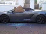 Wrecked Lamborghini Gallardo Spyder on the streets of London