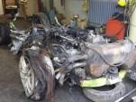 wrecked Lamborghini Huracan
