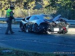 McLaren P1 crash in Dallas, Texas (Image via Wrecked Exotics)