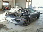 Wrecked Porsche 918 Spyder - Image via Copart