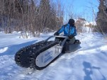 Yvon Martel's MTT-136 electric tracked sled