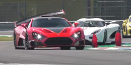 Zenvo TSR-S at the track