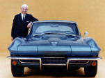 Zora Arkus-Duntov with a 1966 Chevrolet Corvette